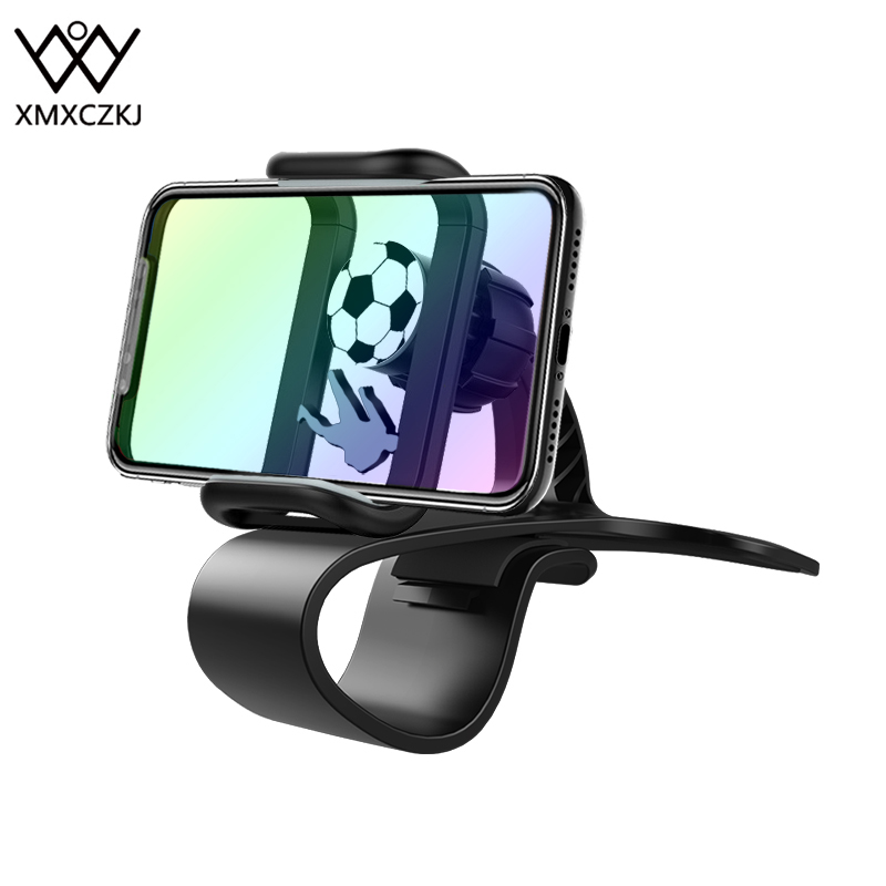 XMXCZKJ Car Mount HUD Smart Phone GPS HolderUniversal Cradle Adjustable Non-Slip Holder For Safe Driving For IPhone X Clip Stand