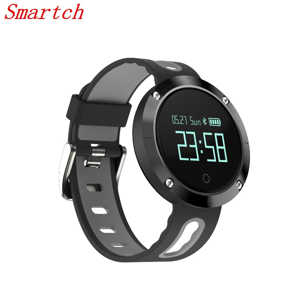Smartch DM58 Smart Bracelet 2017 Blood Pressure Heart Rate Monitor IP68 Waterproof Call Reminder Activity Tracker