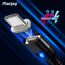 Marjay Magnetic USB Type C Cable For Samsung Galaxy S10 Xiaomi Fast Charging Typ