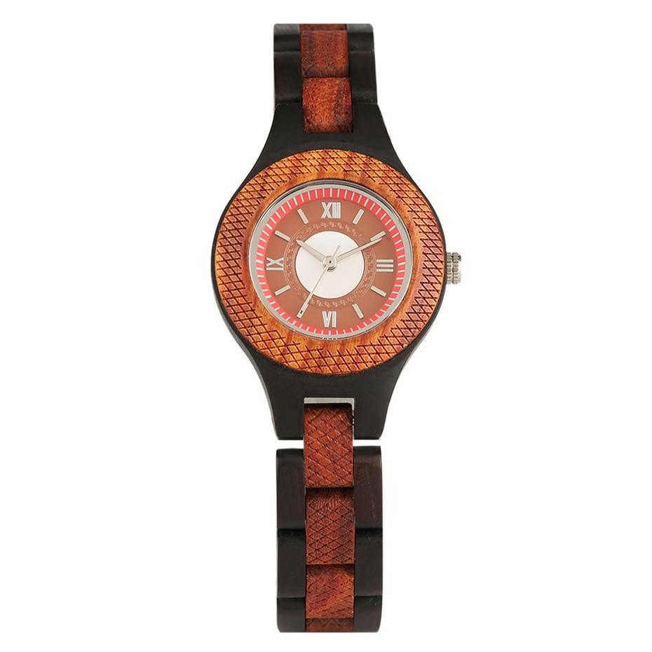 Women Watch Creative Multi-layer Circle Chic Dress Watch Dial Analog Light Slim Wooden Bracelet Quartz Wristwatch for Lady Girls 2020 (1)