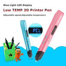 Birthday Gift Latest Authentic 3D Printer Pen Can Paint In Your Hand Low Temperature 3D Pen Painting Pen+Filament Free Shipping