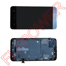 For ZTE Geek V975 LCD Display + Touch Screen Digitizer+ Frame complete by free shipping; 100% Warranty