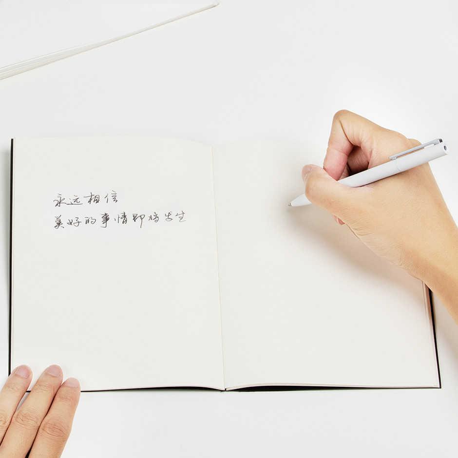 Xiao mi mi jia تسجيل القلم مع صندوق mi القلم 9.5 مللي متر توقيع القلم PREMEC السلس سويسرا الملء mi Kuni اليابان الحبر الأسود الأزرق عبوات الحبر
