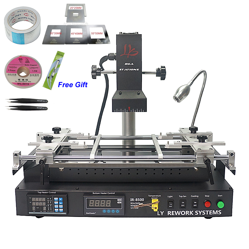 LY IR8500 IR BGA Soldering Station Reballing Kit Motherboard Repair Rework Machine achi ir pro sc infrared bga soldering rework station for motherboard chip pcb refurbished repair machine