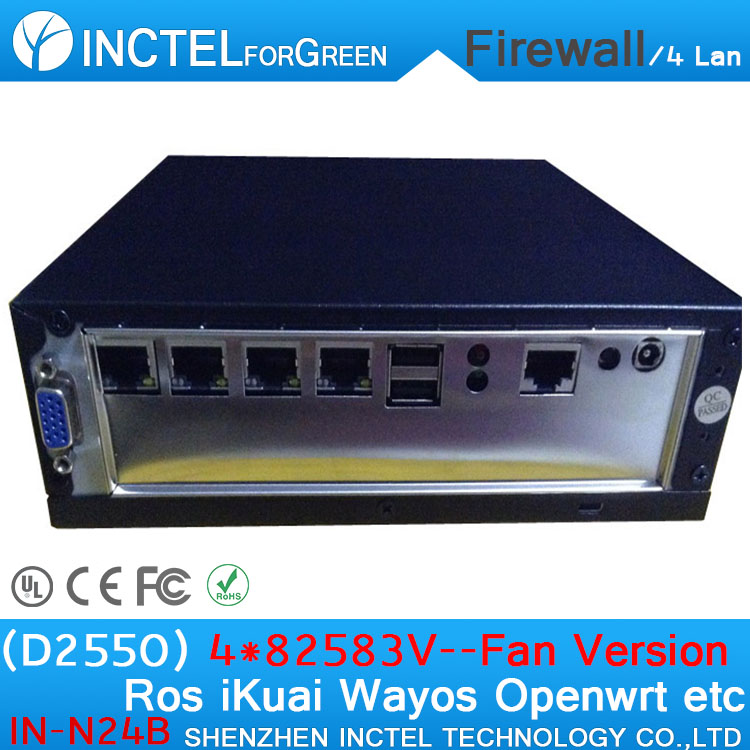 Cheap Barebone Firewall Router Server with DC12V Single Power input support VGA Display  ...