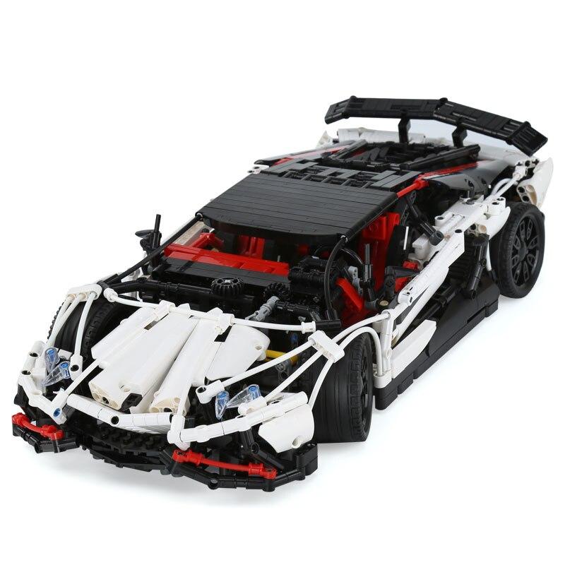 Genuine Technic Series The Super Racing Car Set 23006 MOC 3918 Model Building Blocks Bricks Educational