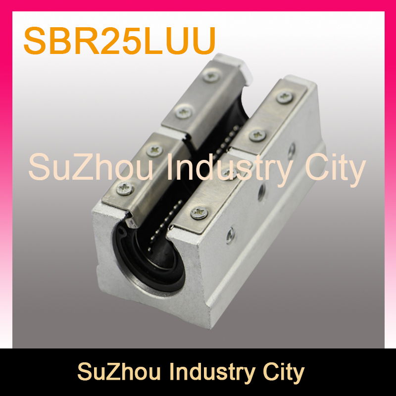 SBR25LUU slide block for linear guide motion,open bearing box for linear guide rails!! Open Linear slide block 1pcs sbr50uu linear slide block for sbr50 linear guide