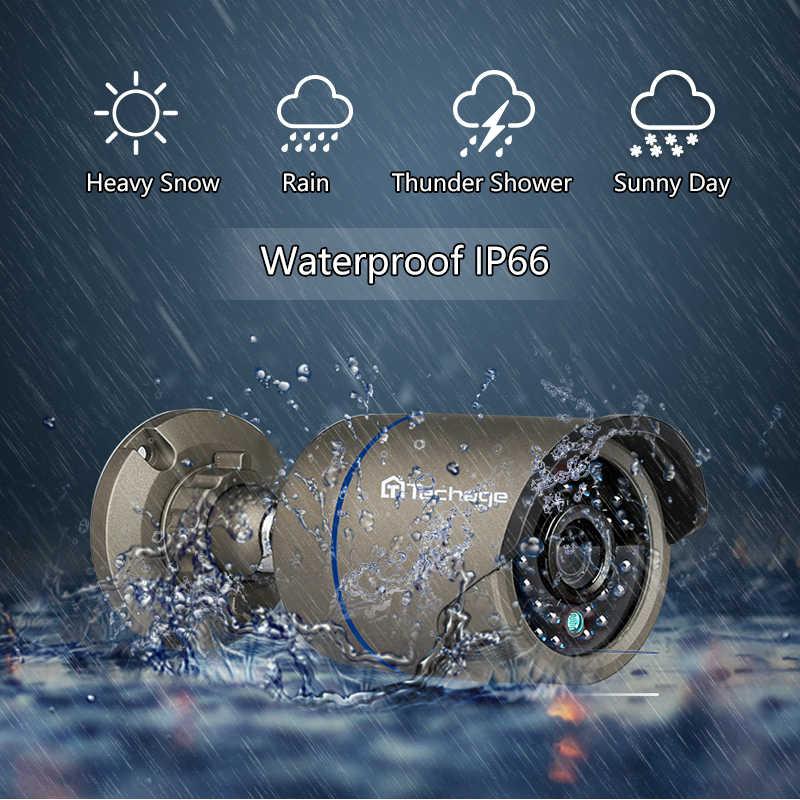 Techage 1080P h.265 POE IP מצלמה 2MP אודיו קול שיא Onvif 48V אבטחת CCTV מעקב חיצוני IR Cut ראיית לילה מצלמה