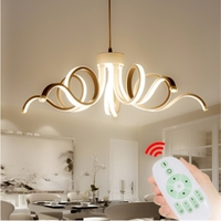 Modern Led Dimmable Lustre aluminum colgantes lamp for Bedroom Living Room Luminaria Indoor Light Chandeliers