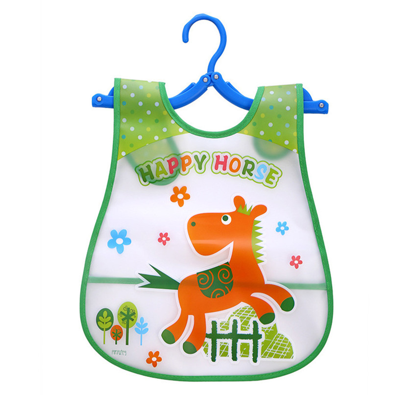 Adjustable Baby Bibs EVA Plastic Waterproof Lunch Feeding Bibs Baby Cartoon Feeding Cloth Children Baby Apron Babador de bebe (29)