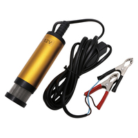 New DC12V Stainless Steel Submersible Diesel Fuel Water Oil Pump 12L Min 38mm Gold