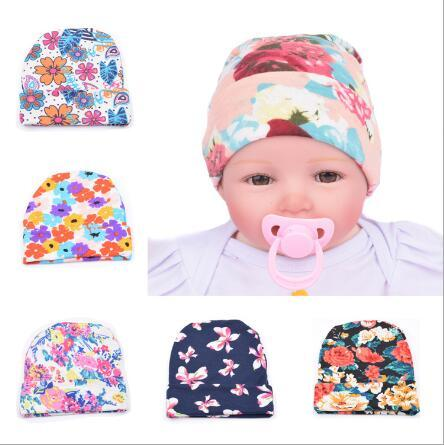7ff2ba1ae US $1.72 19% OFF|ON SALE 1PCS Baby Girl Toddler Infant Children Cotton  Floral Hat Cap Newborn Hats Baby Beanies Hospital Hat baby accessories-in  Hats ...