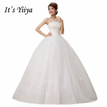 Free Shipping Strapless Flowers Simple Wedding Dresses Cheap White Bridal Frocks Custom Made Vestidos De Novia MH30