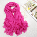 Hot Sale Chiffon Shawls Scarves Ultra Long Chal Hijab Women Girl Soft Beach Scarf Spring Summer Voile Stole 180*150 cm NP104