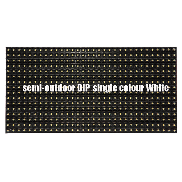 Free ship DHL 50pc p10 led module white 320*160mm semi-outdoor DIP single colour white waterproof  Free cable