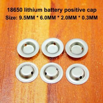 100pcs/lot 18650 battery flat head to change the tip cap lithium positive spot welding accessories