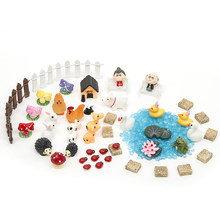 51pcs DIY Miniatures Garden Terrarium Figurines Ornaments Dollhouse Bonsai Micro Landscape Decor For Miniatures Fairy Garden(China)