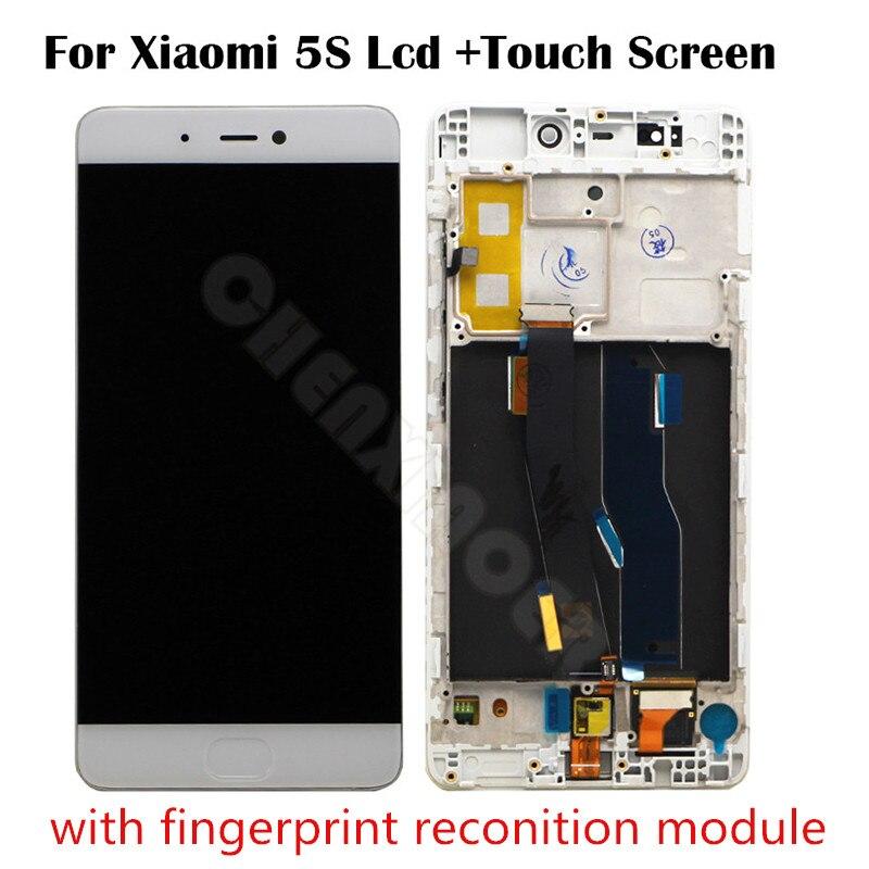 Pour Xiaomi Mi5S LCD Display + Écran Tactile Digitizer pour Xiaomi Mi5S Mi 5S 5.15 pouce avec Finger Print Scanner doigt flex câble