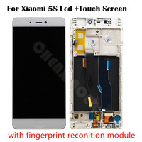 for Xiaomi Mi5S LCD Display+Touch Screen Digitizer for Xiaomi Mi5S Mi 5S 5.15 inch with Finger Print Scanner finger flex cable