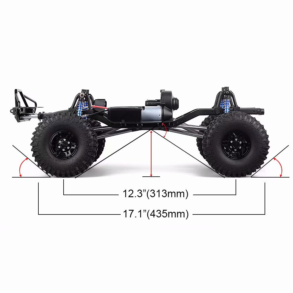 RC Crawler SCX10 Assembled Frame Chassis for for 1/10 Axial SCX10 SCX10 II 90046 90047 Upgrade Parts