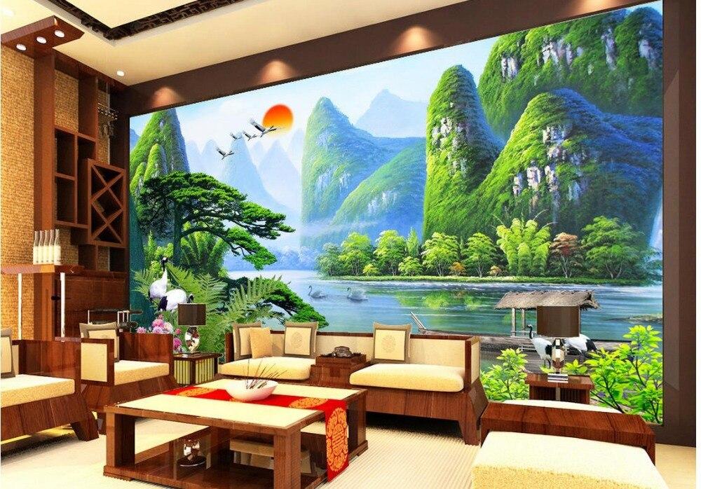 Landscape Wallpaper Murals Welcome Song 3d Wallpaper Modern For Living Room  Murals Non Woven Home Decoration