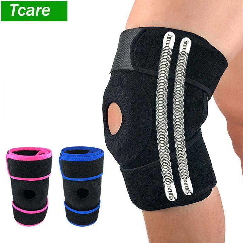 2Pcs/lot Knee Brace Support Open Patella Stabilizer With Adjustable Strapping Extra Thick Breathable For Meniscus Tear Arthritis