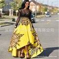 Bata Africaine Mujer Vestidos Para Limitada Poliéster Nuevo 2016 Impresión Atractiva de La Manera Irregular Faldas Ropa