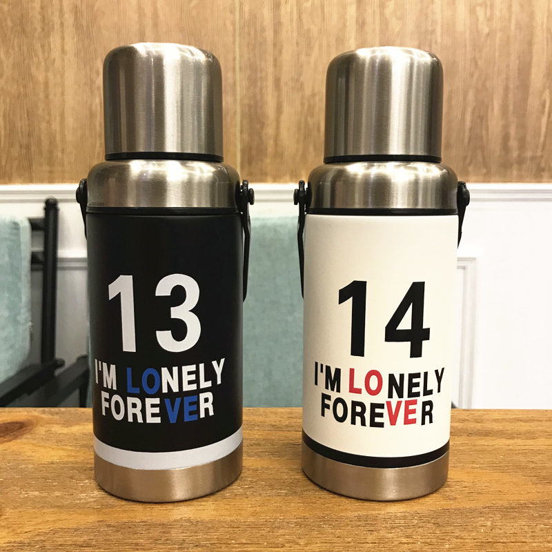 Stainless Steel Thermos Mug Coffee Cup Food Thermos 360ml Travel Mug Coffee Thermal Flask Hot Water Flask Mini Thermo 3DBWL18