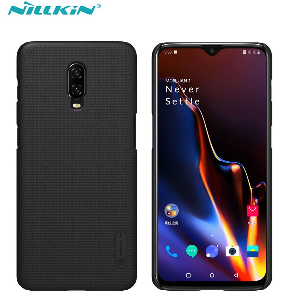 Case For oneplus 7T Cover Oneplus 7 pro NILLKIN Super Frosted Shield Matte PC back cover case for Oneplus 7T gift holder