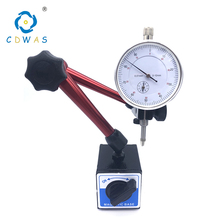 Height 350mm Big Universal Flexible Magnetic Base Holder Stand Tool and 0-10mm 0.01mm White Dial Indicator Lever Measuring Set