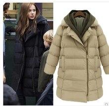 2016 winter jacket women medium-long wadded jacket plus size thickening women's cotton-padded jacket female outerwear