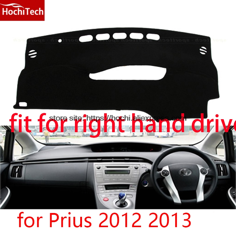 For toyota Prius 2012 2013 right hand drive dashboard mat Protective pad black car-styling Interior Refit sticker Mat products special car trunk mats for toyota all models corolla camry rav4 auris prius yalis avensis 2014 accessories car styling auto
