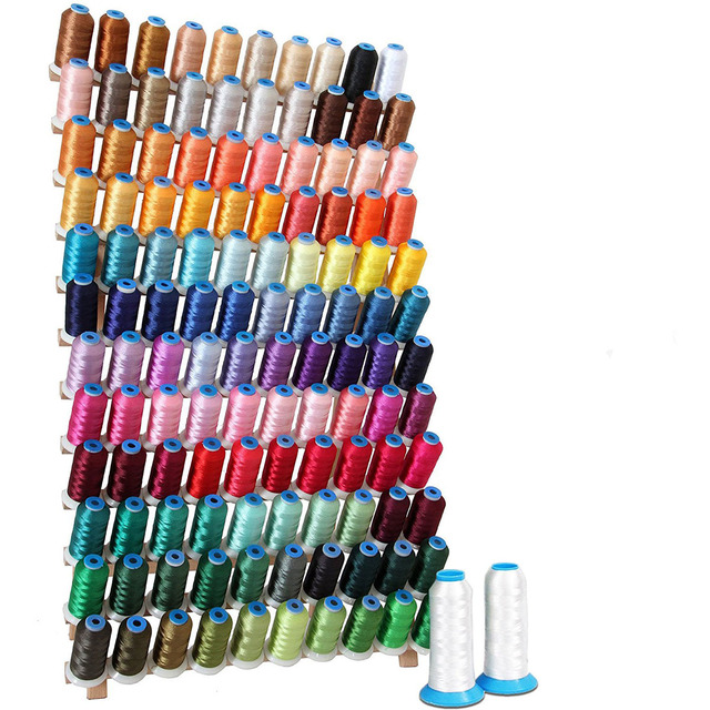 Foldable Wood Thread Stand Rack Holds Organizer Wall Mount 120 Spool Cone Embroidery Machine Sewing Storage Holder