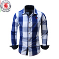 2017 New Men Shirt High-quality Plaid Long Sleeved Casual Shirts slim Long-Sleeved Shirt Europe Size Plus Size M-XXL Camiseta