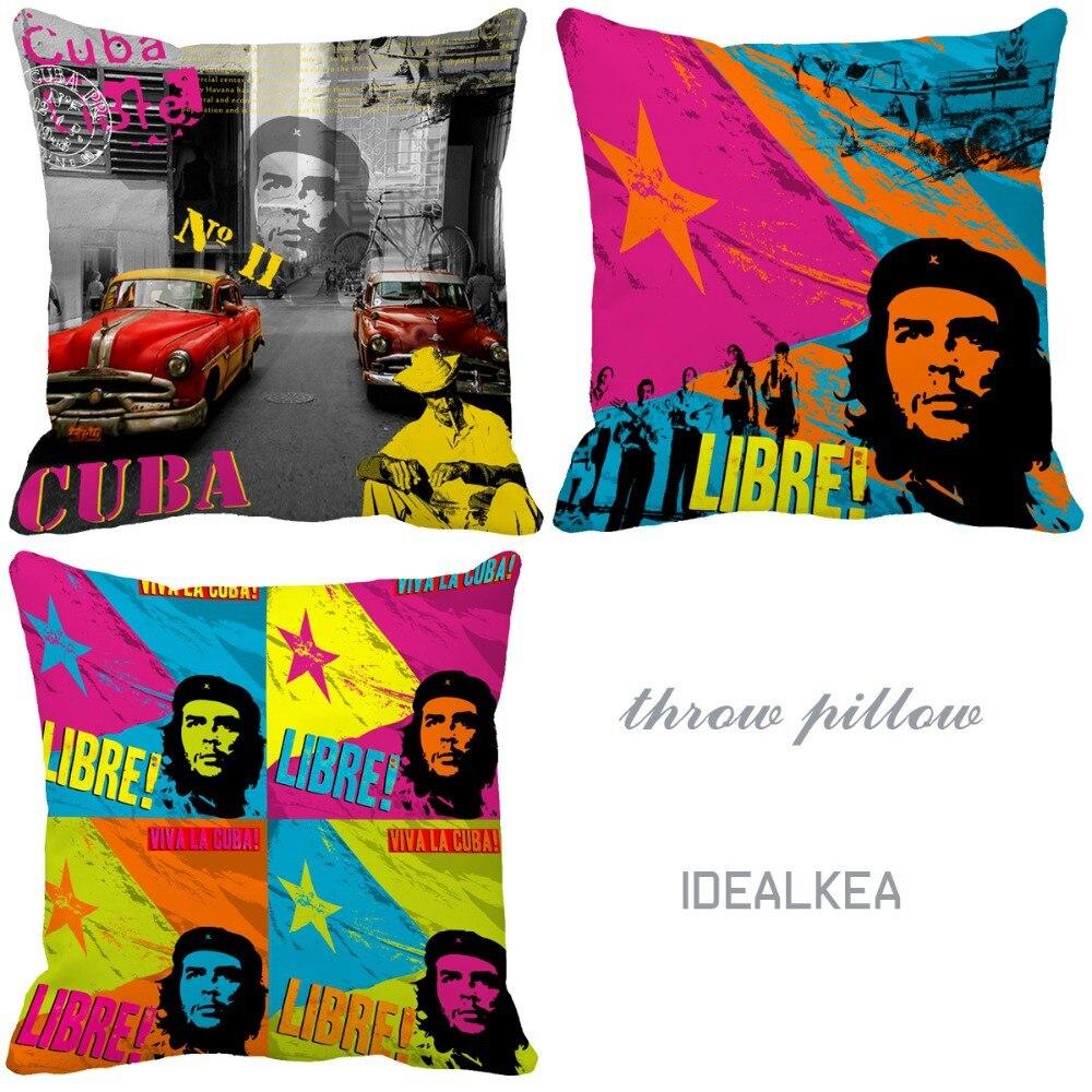 Retro Cuba Libre modelos impresión personalizada cojines para sofá