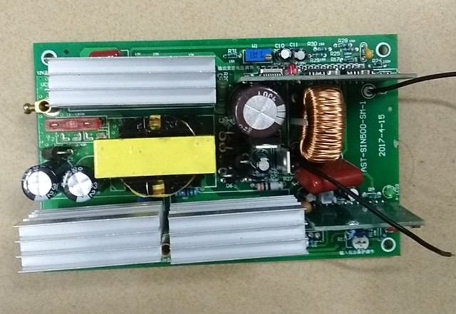 US $40 18 |500W pure sine wave inverter circuit board 12V to 220V peak  1000W-in Inverters & Converters from Home Improvement on Aliexpress com |