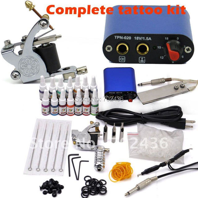 Beginner Rotary Tattoo Kit Tatoo Machine 14 Color Inks professional ...