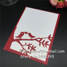 30Pcs Paper Laser Cut love bird Wedding Invitations Cards, wedding favors and gifts, Wedding Invitation with custom Inner Sheet 30pcs custom personalized name date bottle opener keychain wedding gifts for guests wedding souvenirs wedding favors and gifts