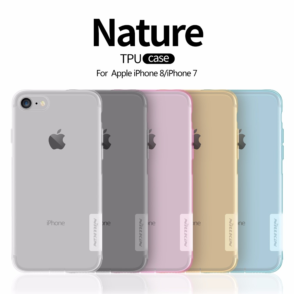 Case For iphone 8 NILLKIN Ultra Thin Transparent Nature TPU Case For Apple iphone8 7 7plus 8plus plus Clear Soft Back cover case