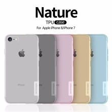 Case For iphone 8 NILLKIN Ultra Thin Transparent Nature TPU Case For Apple iphone8 7 7plus 8plus plus Clear Soft Back cover case(China)