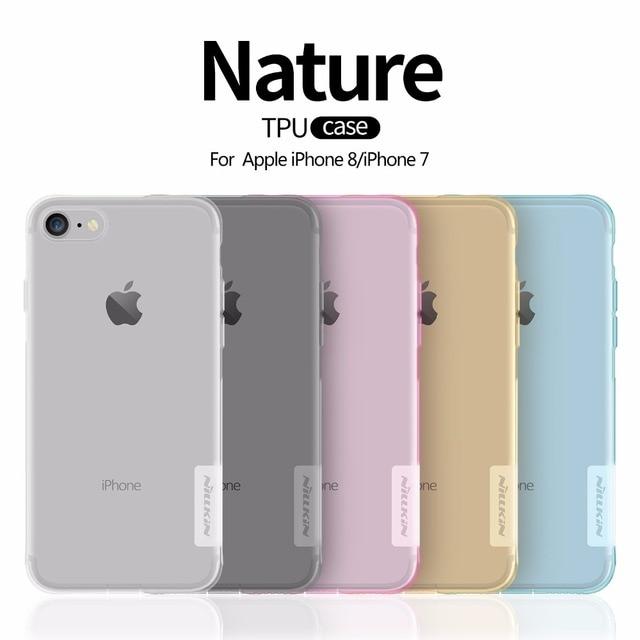 Чехол для iPhone 8 Nillkin Ультра тонкий прозрачный Nature TPU Case для apple  iphone 8 7 14da5ab02257d