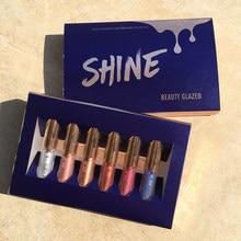 Beauty Glazed 6 Colors Shimmering Lipstick for Eyes And Lips Makeup Matte Velvet Long Lasting Lip Pigment Makeup Nude lip gloss