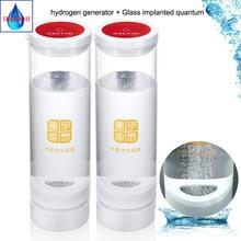 Ionizador puro alcalino titanium h2 do eletrodo de botlle da água do gerador rico de hidrogênio quantum recarregável melhora o sono anti-envelhecimento