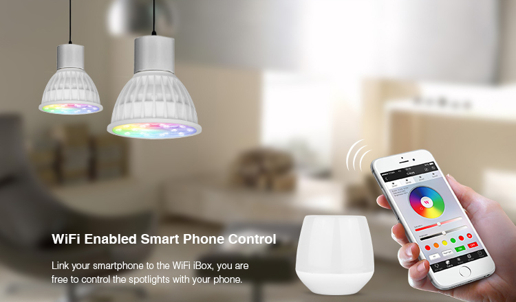 4W Mi Light LED Bulb GU10 Dimmable Lamp Light RGB + Warm White + White (RGB+CCT) Spotlight Indoor Living Room Decoration