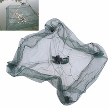Portable 60*60cm Folding Nylon Fishing Net Fish Casting Bow Net Fishpot Cage Outdoor Fishnet Free Shipping