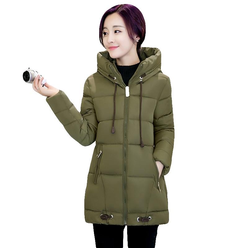 Winter Cotton Padded Jacket Women Slim Thick Hooded Female Coat women winter Parkas Warm Winter Long Jackets LadY Overcoat