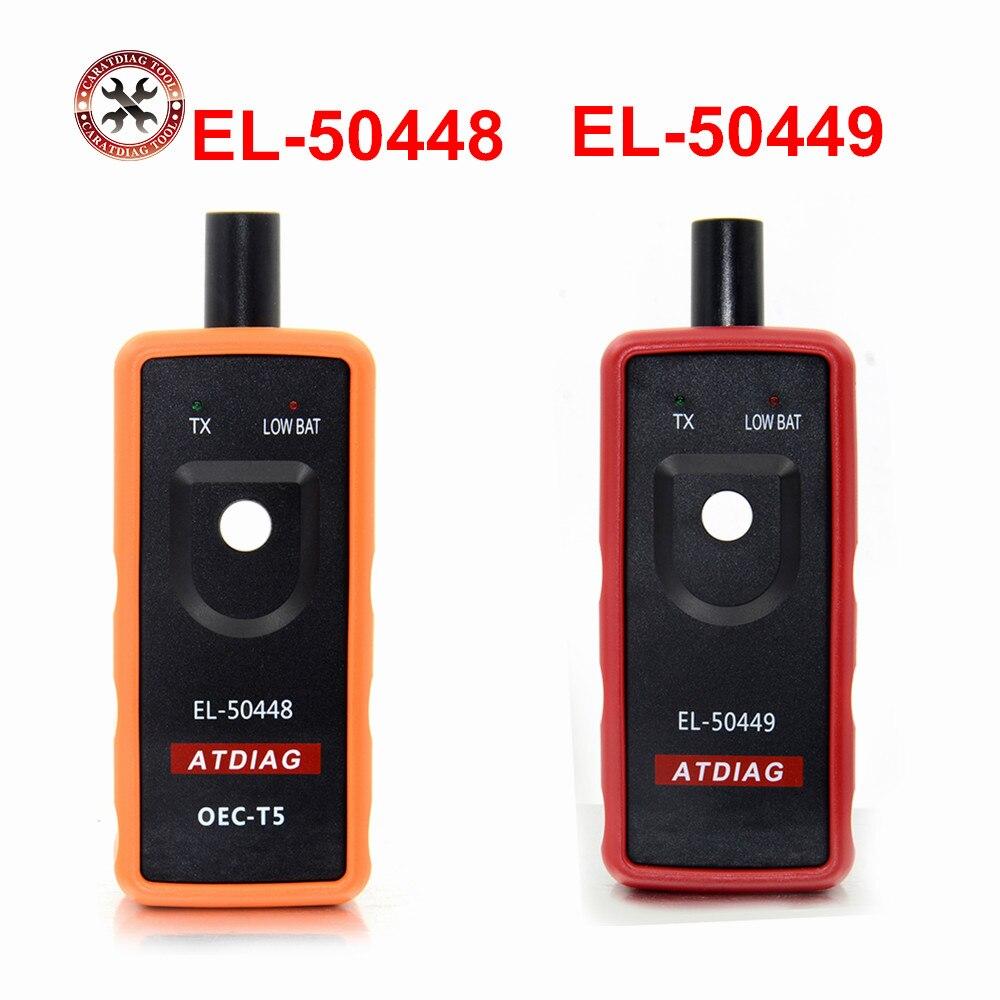2018 mais novo el 50448/50449 sensor de monitor pressão dos pneus tpms ferramenta ativação EL-50448 para G-M el50449 para ford series veículo