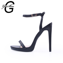 Summer Women Sandals High Heels Open Toe Buckle Ankle Strap Sandals