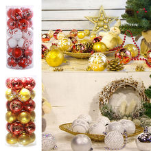 Colorful christmas ball Shatterproof Christmas Ball Ornaments Decoration,Themed with Tree Skirt cristmas decoration(China)