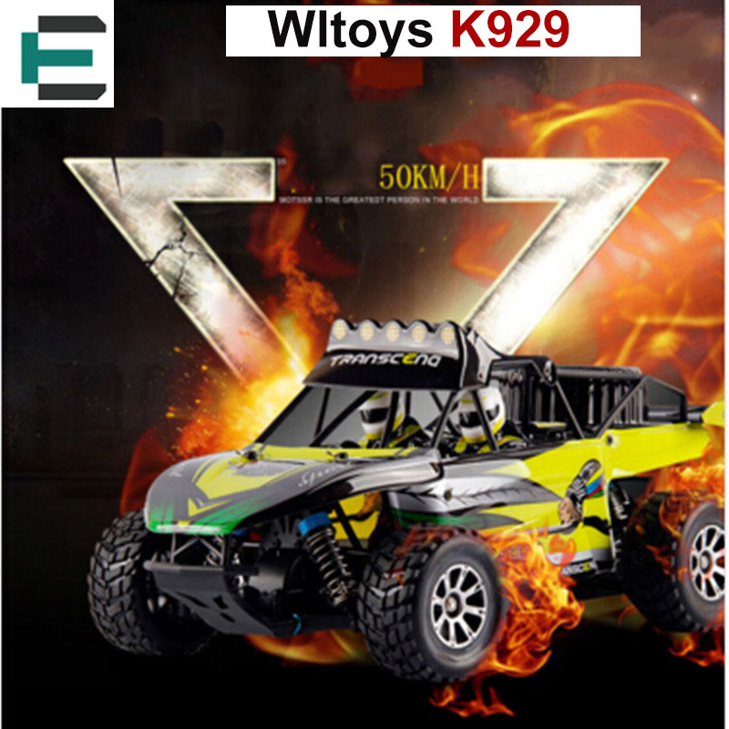 ФОТО Wltoys K929 Electric Hobby Rc Car Buggy RC Vehicles Toys 50KM/H Shaft Drive Monster Truck High Speed Radio Off-Road Monster